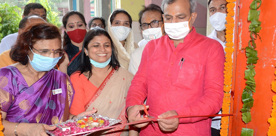 SDMC Mayor inaugurates isolation centre at Andrews Ganj