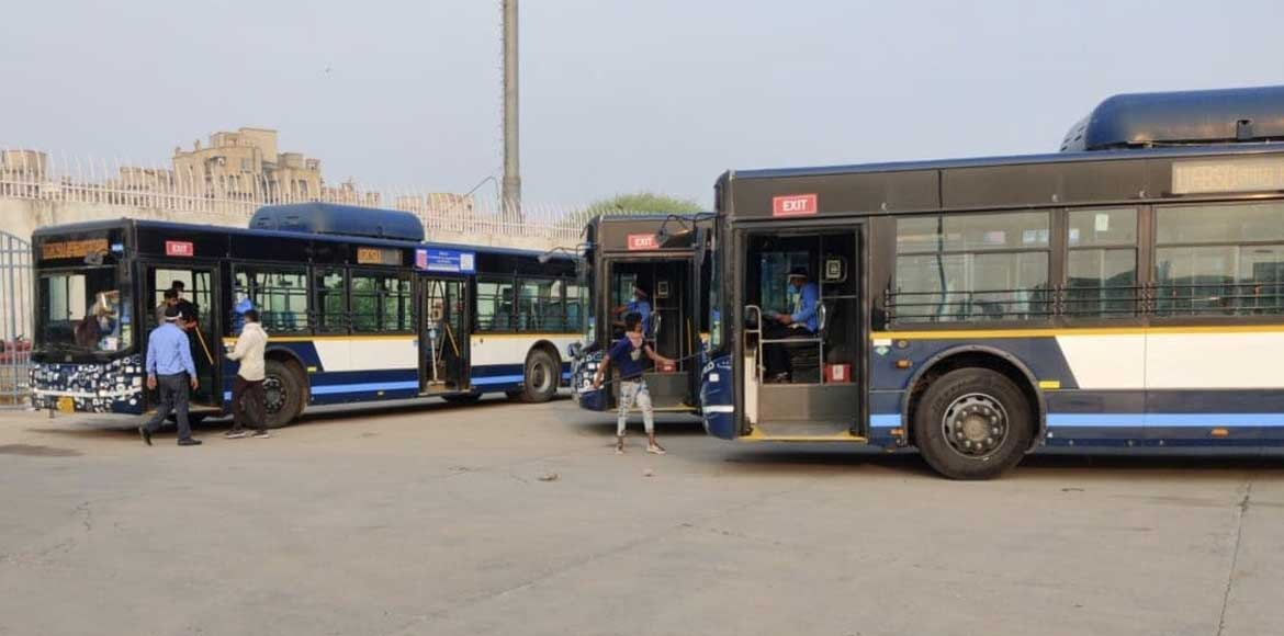 Gurugram city bus service resumes with limited seating capacity