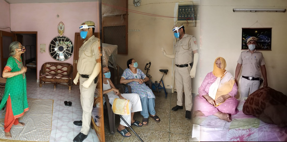 Dwarka Police's exemplary crusade to help senior citizens during pandemic