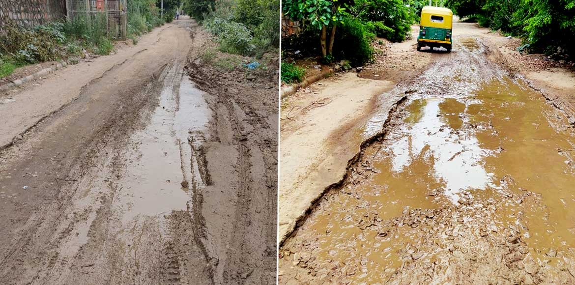 RESIDENT SPEAK: Service road in pathetic state at