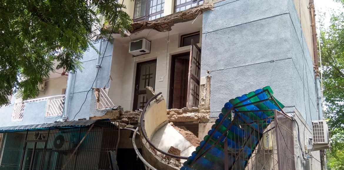 Residents in fear after collapse of balconies at p