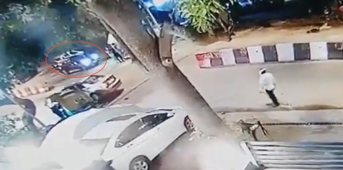 29-year-old woman runs BMW into 4 persons at Kailash Colony