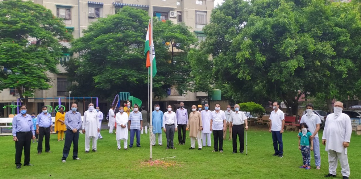 PHOTO KATHA: I-Day celebrated with compliance to Covid guidelines in Dwarka
