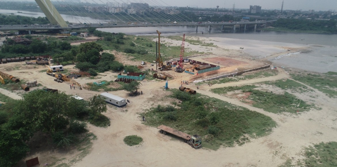 DMRC starts construction of 5th metro bridge over