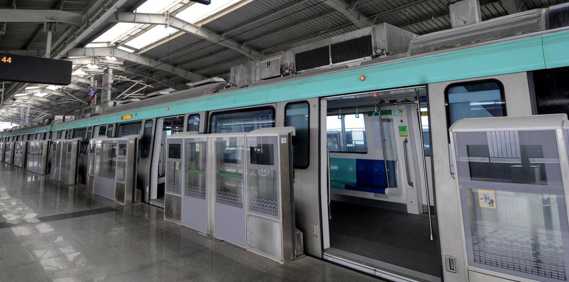 Noida metro resumes services; only one gate open a