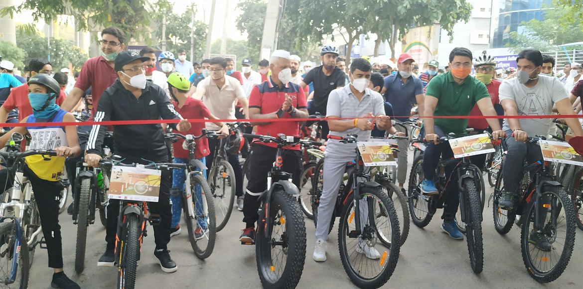 10-km long cycling track inaugurated in Gurugram