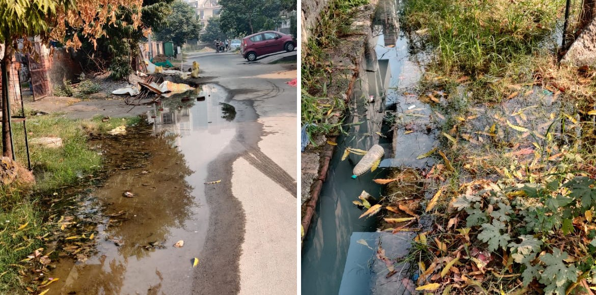 Noida: Sewerage overflow irks residents of sector 108