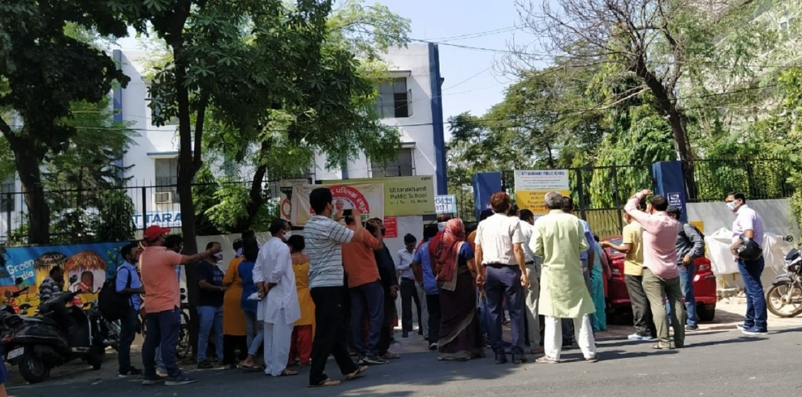 Noida: Parents stage protest against school admin over fee issue