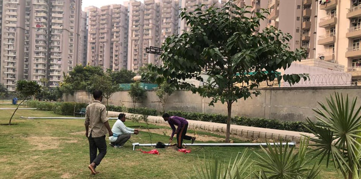 Noida: Sec 74 park all set to get illuminated as installation of lights begins