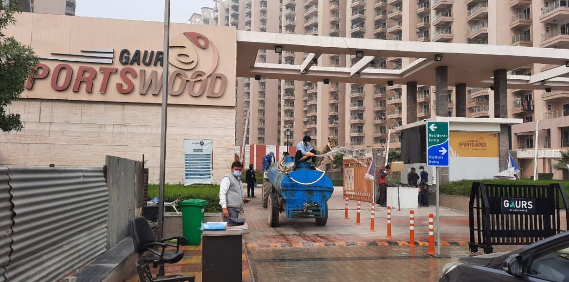 Noida begins massive sanitisation drive amid rising Covid-19 positive cases