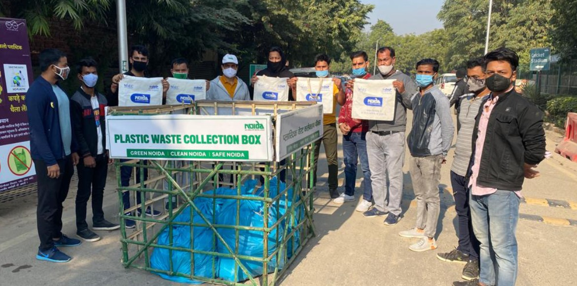 Youth group carries out plastic waste collection d