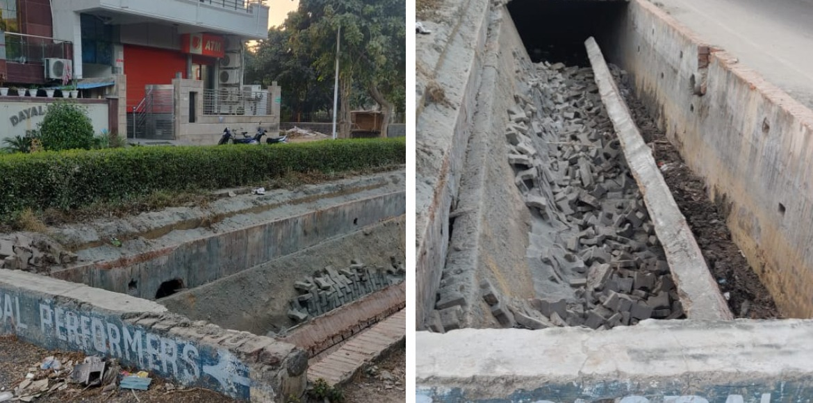 RESIDENT SPEAK: Large portion of footpath collapsed suddenly in Sec 17