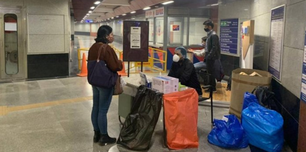 Delhi metro starts free coronavirus tests for commuters at stations