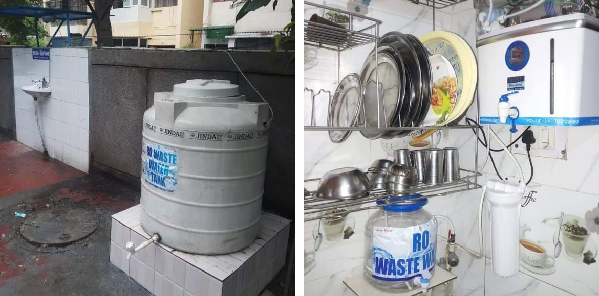 Aravali Apartments: Residents set up process to reuse waste water from purifiers
