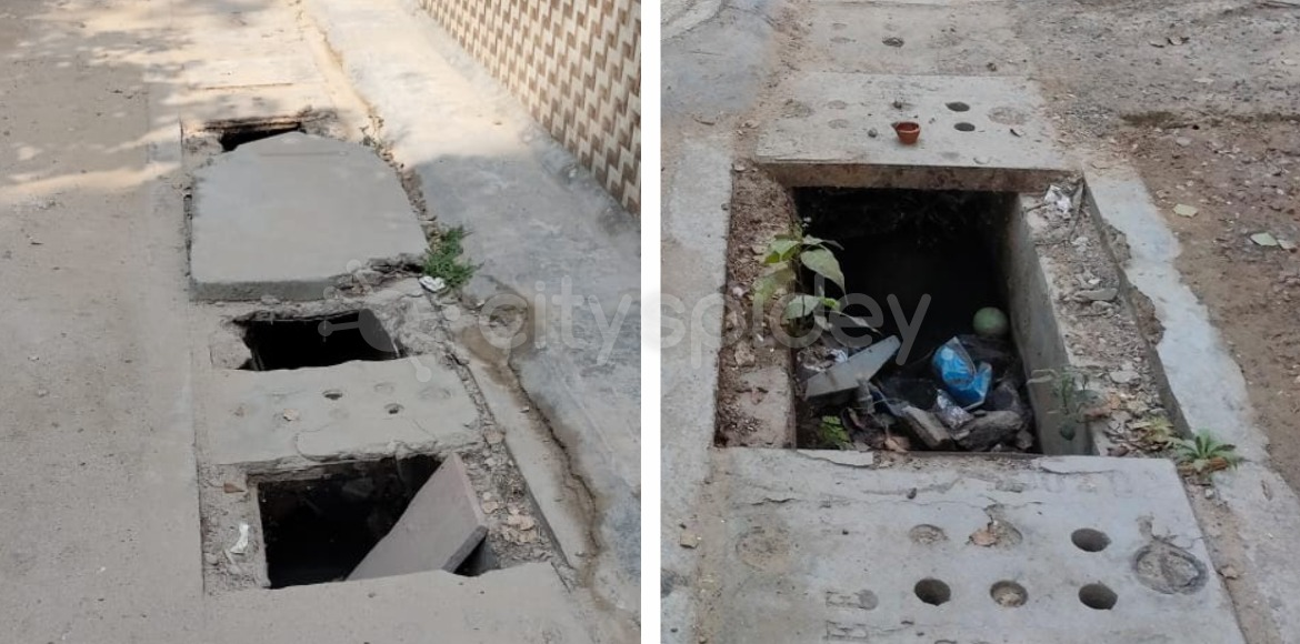 Radhika Apartments: Missing storm drain covers act as threat to residents