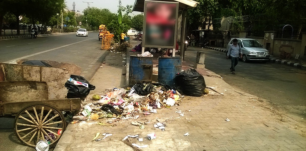 It's garbage everywhere on streets in Dwarka