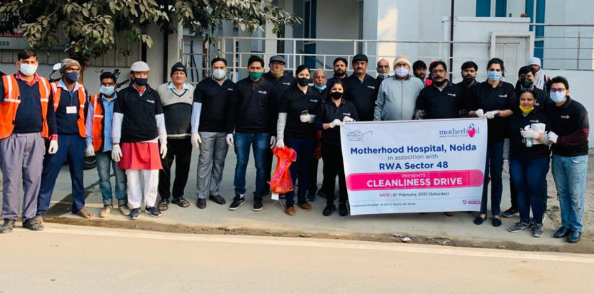 Motherhood Hospital conducts cleanliness drive in Noida