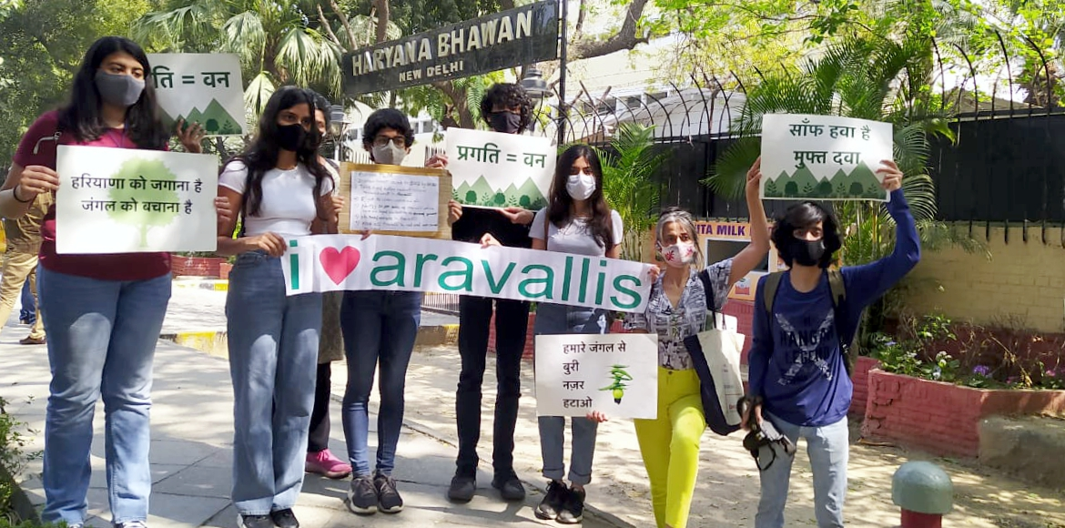 Aravalli Bachao team launches campaign against legalising of mining