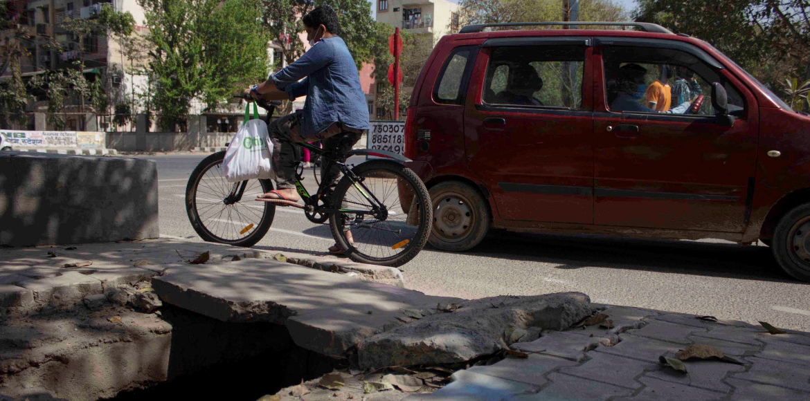 National Safety Day: Be careful around unsafe roads in Dwarka
