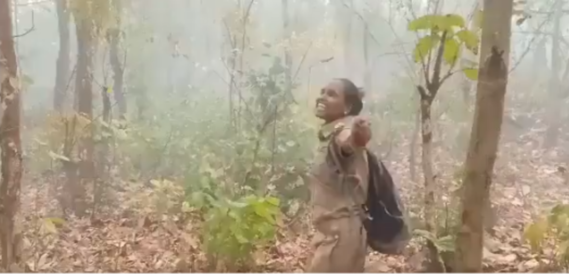 Forest officer dances when it rains after fire; vi