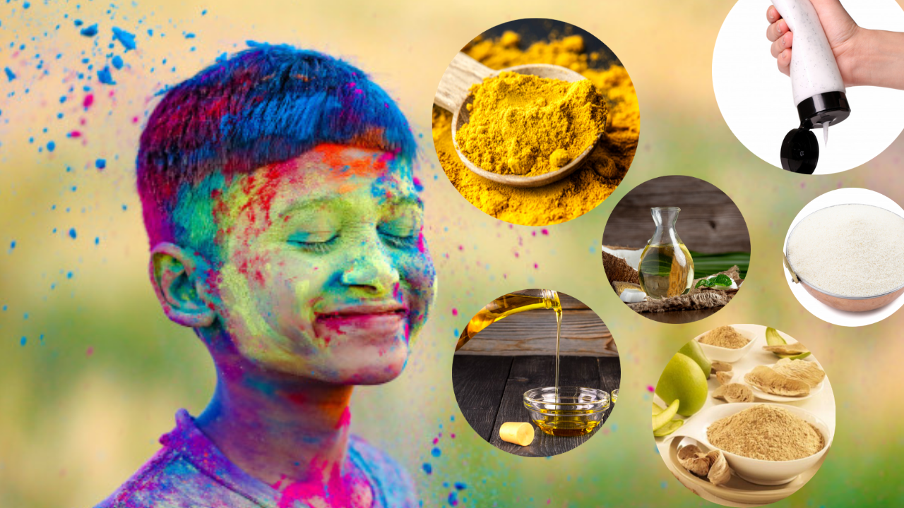 Try these ways to remove stubborn Holi colours