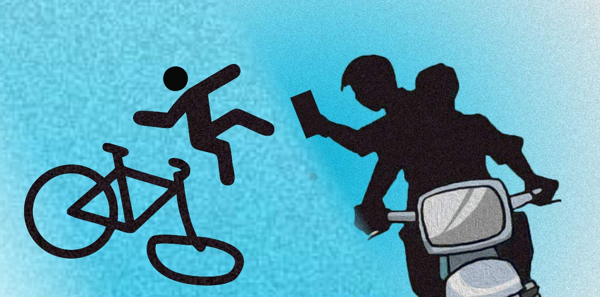Cyclists bear the brunt of snatchers at Akshardham