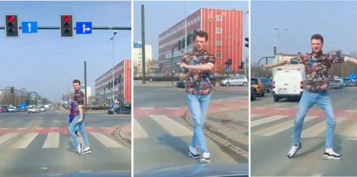 People stunned at man's incredible moonwalk skills