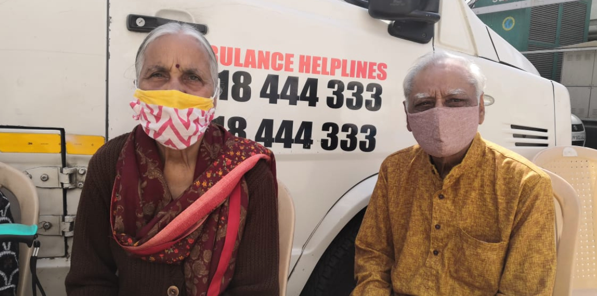 Senior citizens respond to vaccination drive enthusiastically at Dwarka