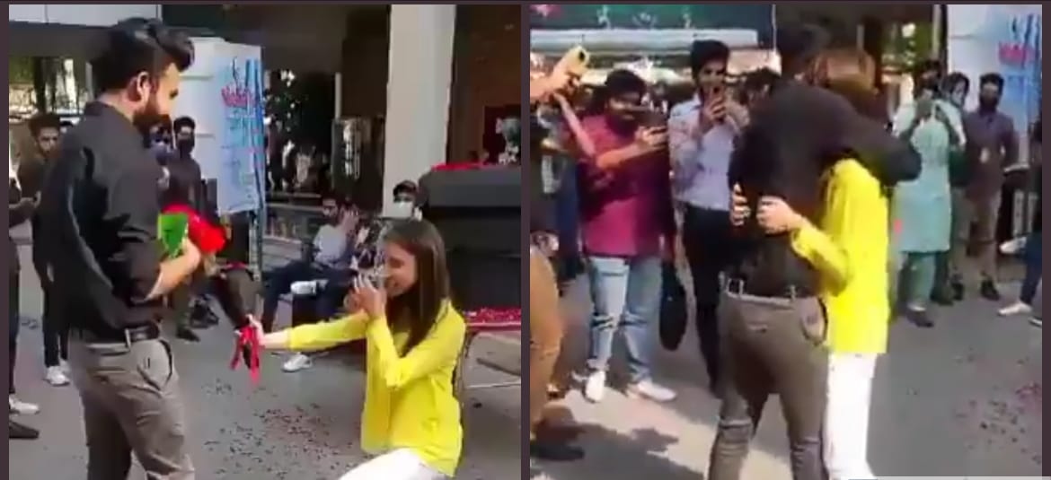 Pakistani girl expelled from college for proposing a guy