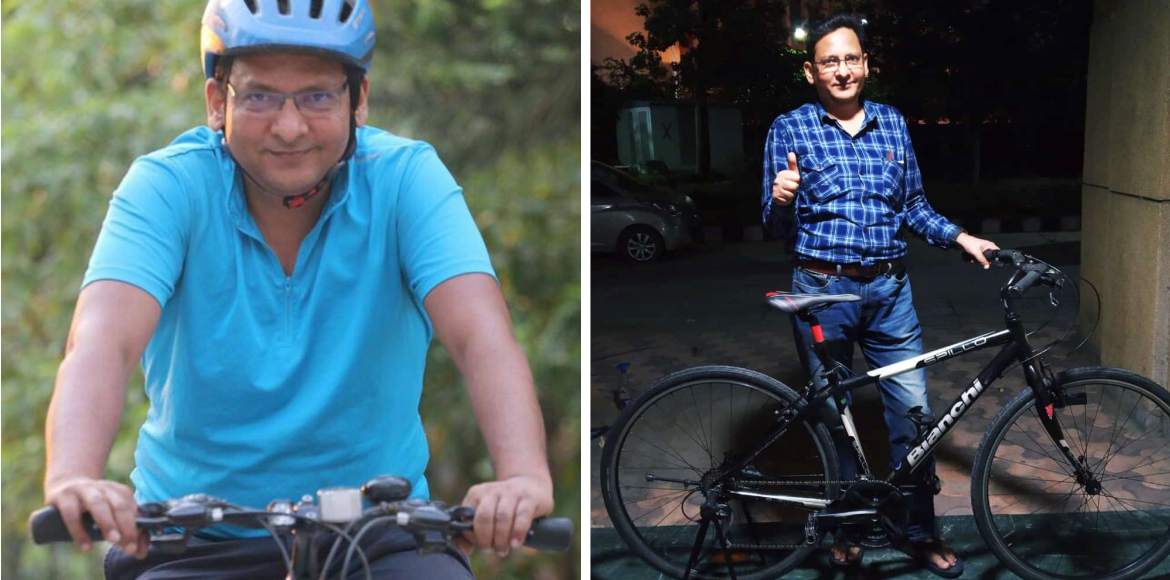 50-year-old Rizwan says cycling can boost happines