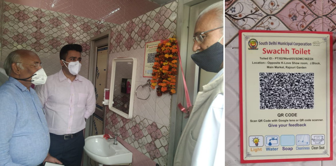 SDMC equips public toilets with QR Codes for feedback on facilities