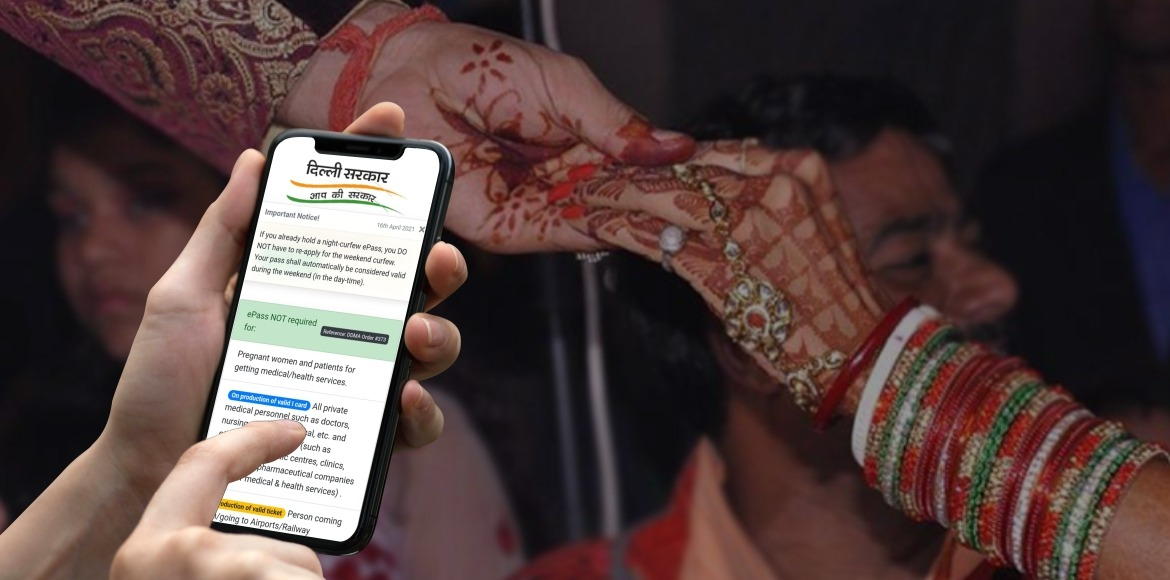 This is how you can issue e-pass for a wedding in Delhi