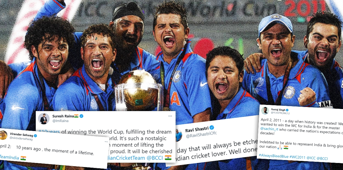 It's been a decade since Indian cricket team lifted the World Cup!