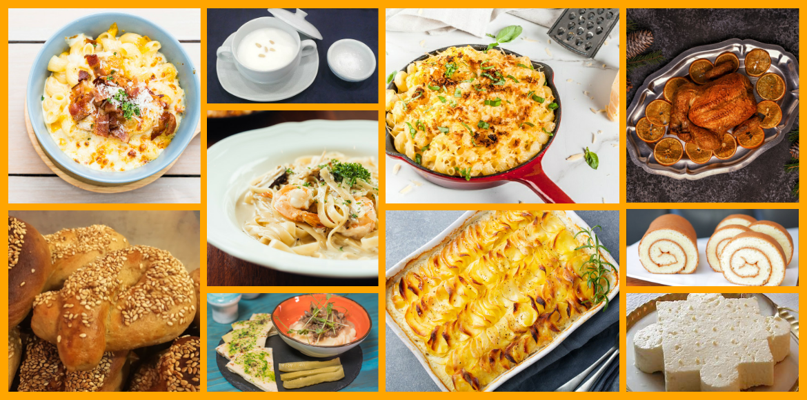 Dairy products based dishes from across the world