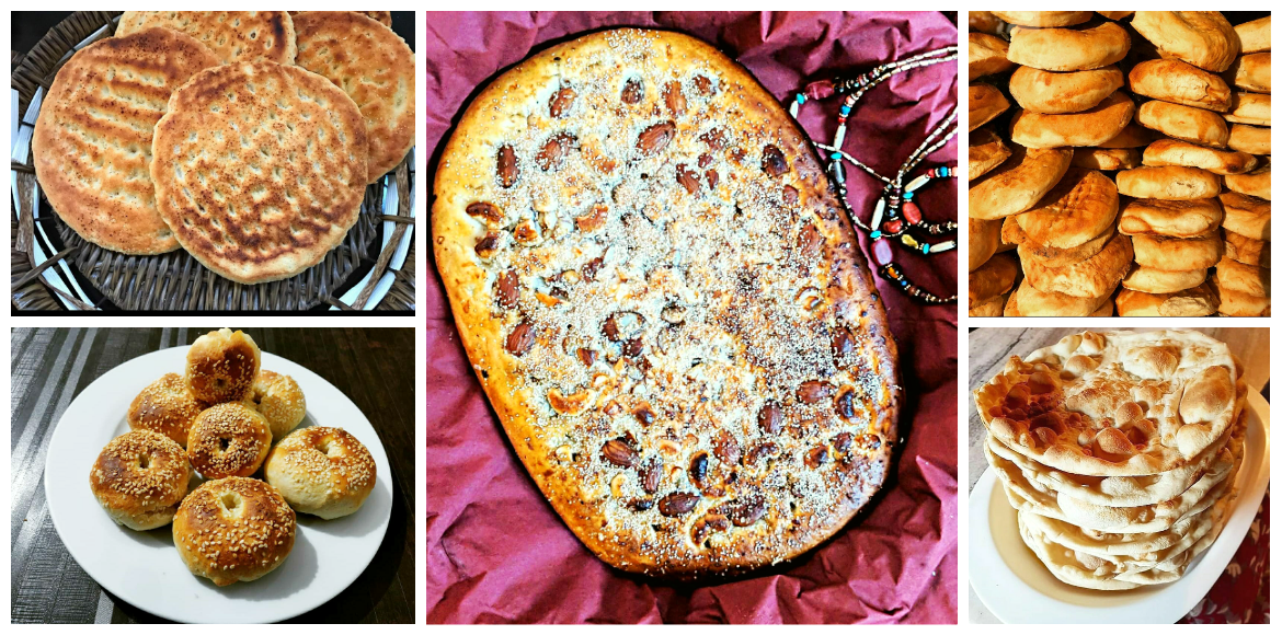 Different kinds of bread in Kashmir