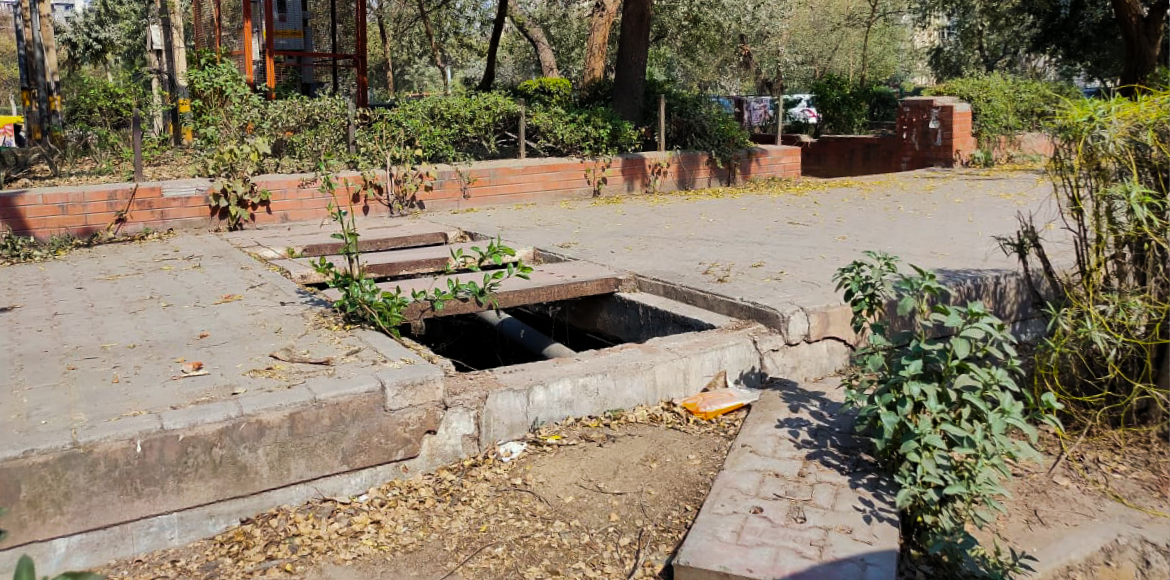 Dwarka: Missing drain cover could prove fatal for