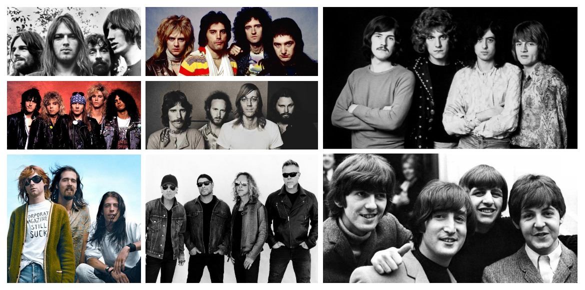 Eight classic rock bands which mesmerised the world