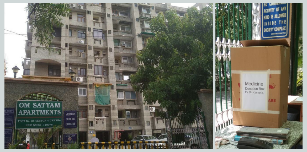 Om Satyam Apartment sets up donation box for unuse