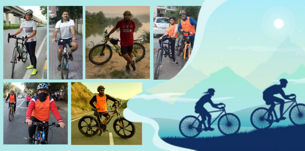 Cyclers share the joys of pedalling amid Covid
