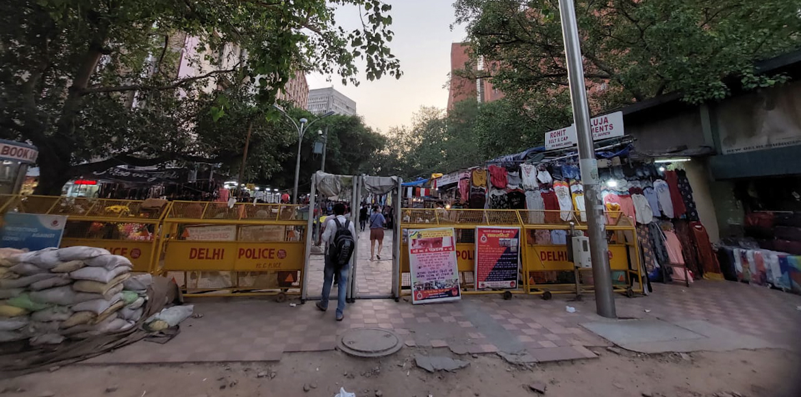 The colours of Janpath market have faded