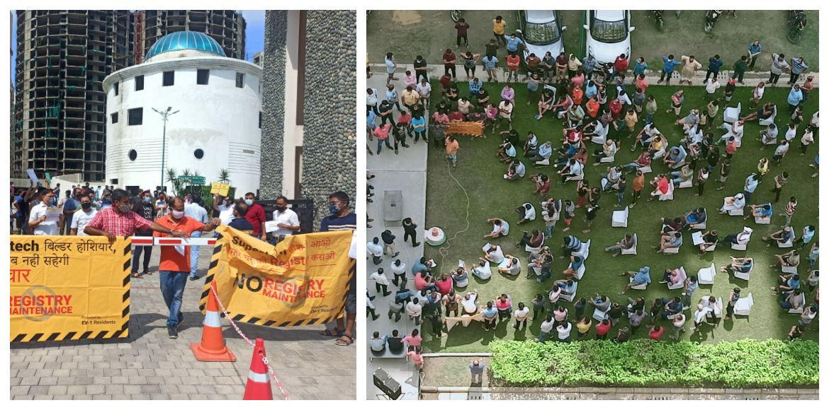 Supertech Ecovillage residents protest again to demand registry of flats