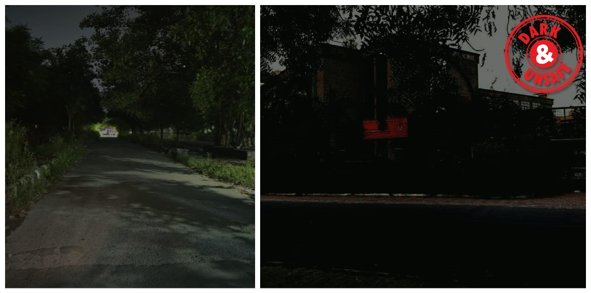 Dwarka: Dark lane becomes unsafe for residents in