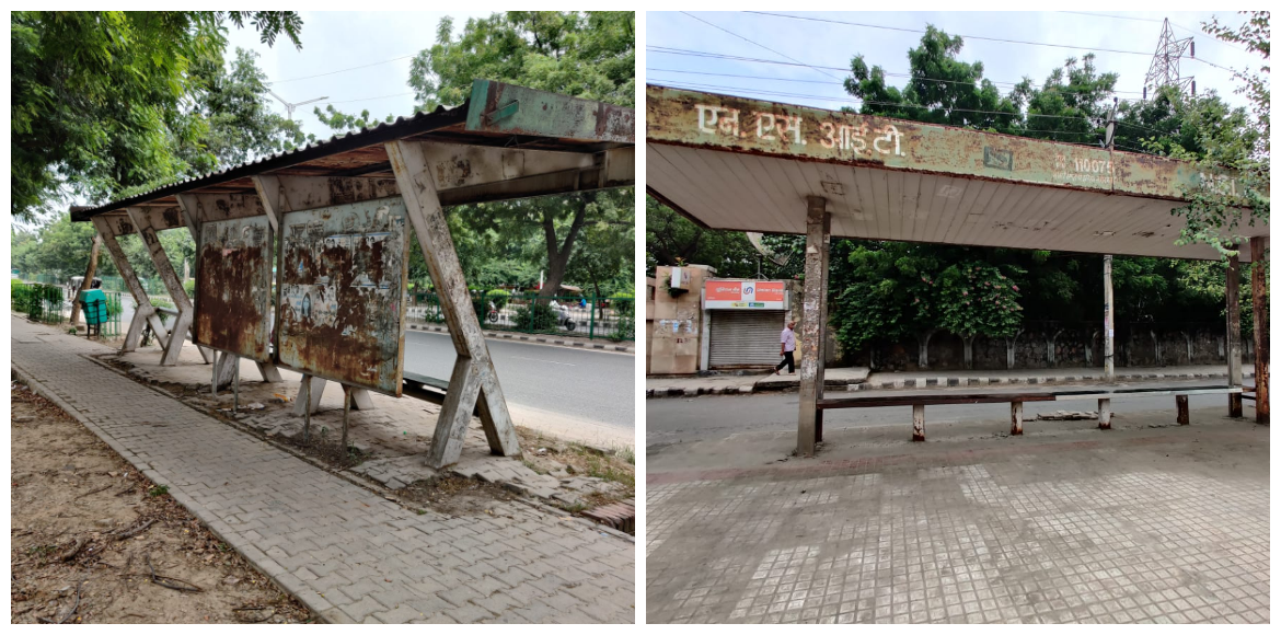 Dwarka: Pathetic condition of bus shelter in Sector 3