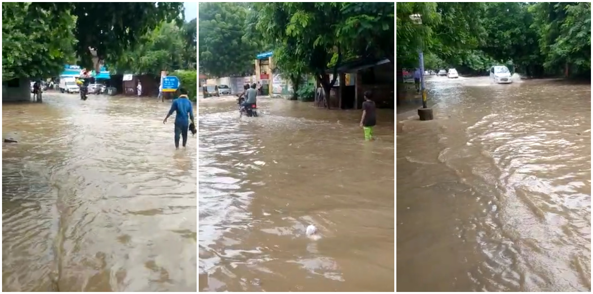 Gurugram: Sec 22B gets submerged in water after he