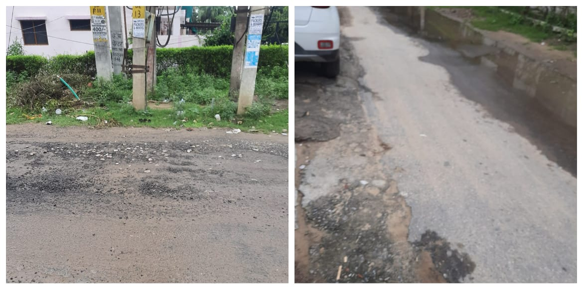 Gurugram: Residents complain pathetic state of road in Sector 4