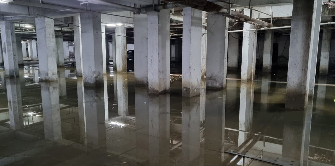 Sky Gardens: Worried residents raise bad condition of basement