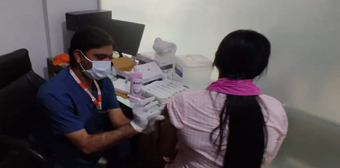 Free Covid-19 vaccines administered to around 625