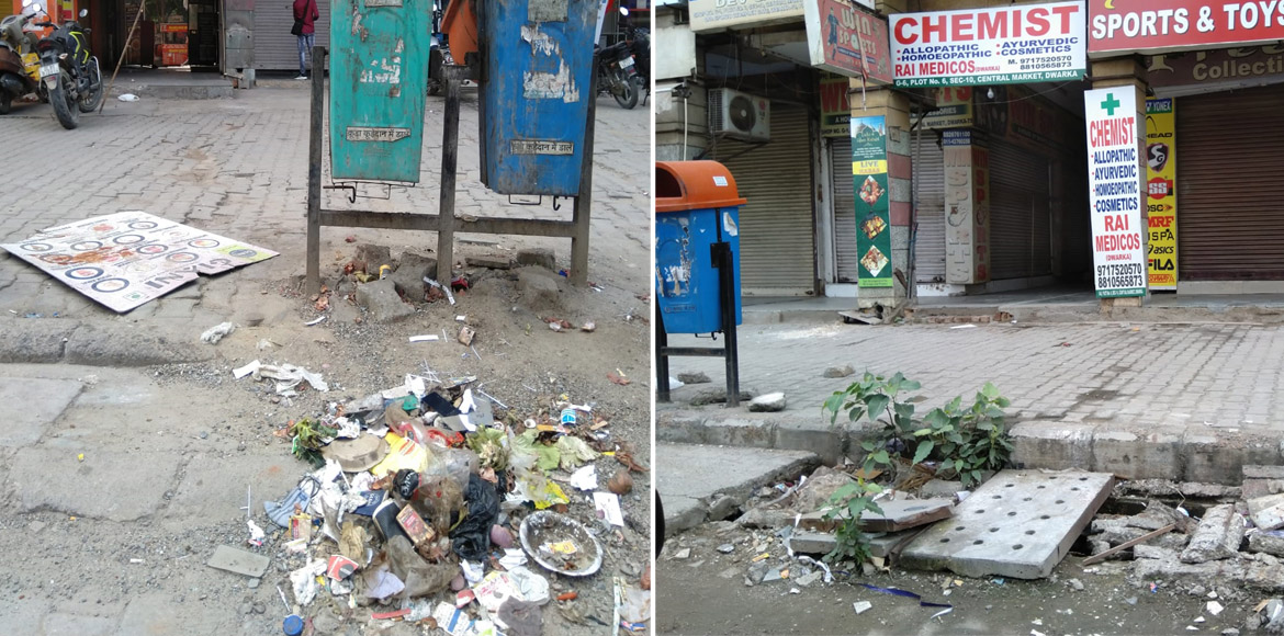 Dwarka: Problems galore at Sector 10 market