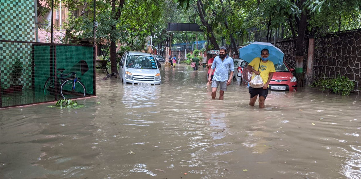 Dwarka gets flooded with water amid incessant rain