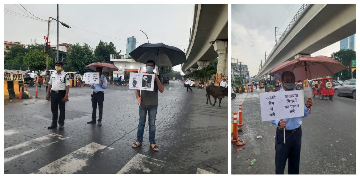 Undeterred by rain, 7X welfare team continues traffic awareness drive